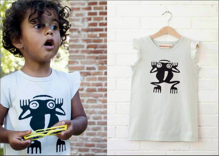 frog print by Nadadelazos for spring 2014 kidswear collection