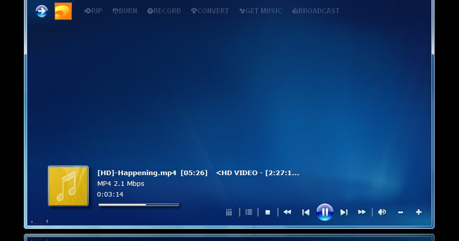 All About Media Players Skins: Windows Media Center Skin For JA