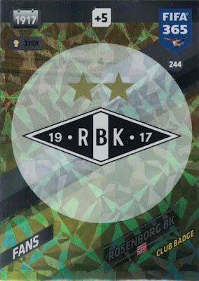 Club Badge Sticker 212 Champions League 17//18 AS Roma