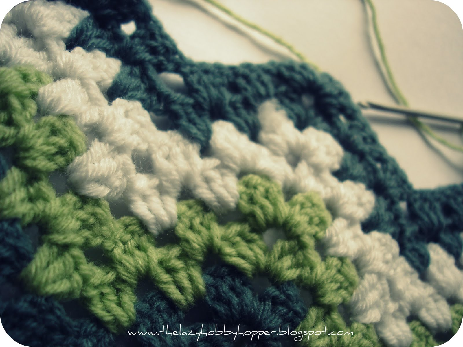 Easy Crochet Ripple Afghan Tutorial : The Lazy Hobbyhopper: How to crochet granny ripple