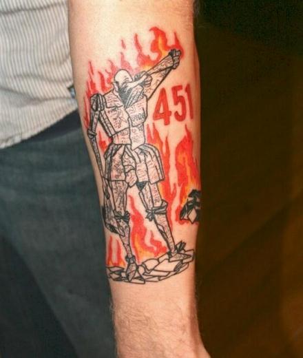 B chereulen literary tattoos bibliophile tattoos for Fahrenheit 451 tattoo
