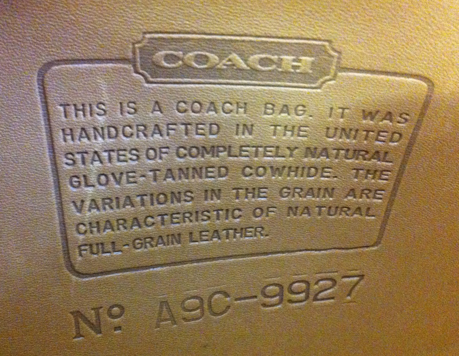 Coach Bag Serial Number Search.