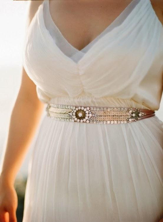 cinturón joya para novia