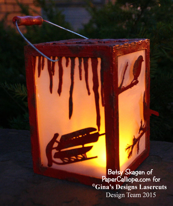 Tutorial  How To Make The Rustic Winter Tealight Lantern