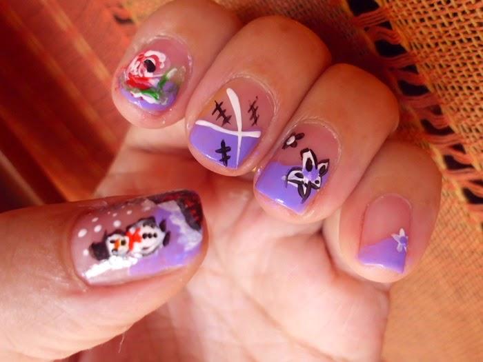 manicura con decoraciones