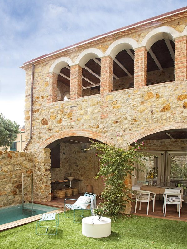 decordemon renovated house with charming rustic interiors in girona spain