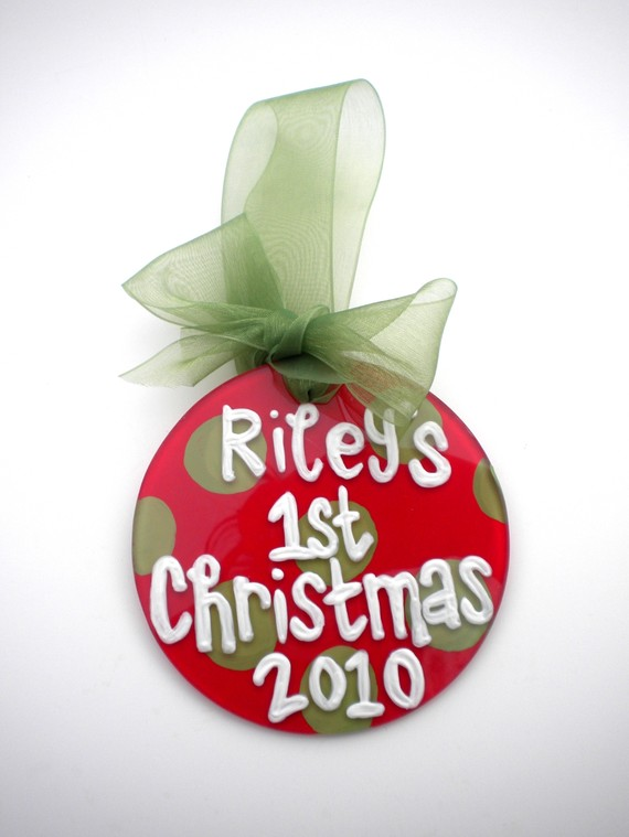 Baby First Christmas Ornament Personalized
