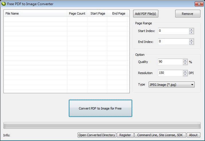 PDF轉圖片 ( PDF To JPG 圖檔 ) 軟體推薦