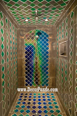 shower tile ideas, shower tile designs, tiling a shower, Islamic bathroom shower tile
