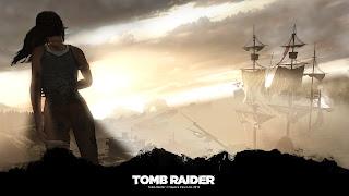 Tapeta z gry Tomb Raider 1920x1080: Lara Croft i statek