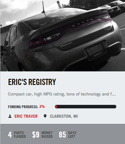 Dodge Dart Registry