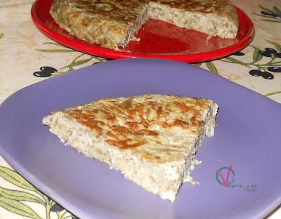 Tortilla de berenjenas.