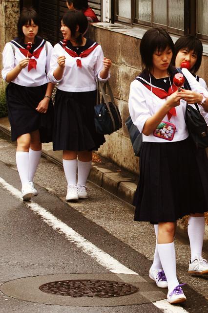 Adolescentes adolescentes japoneses inocentes