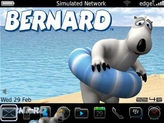 Theme Bernard Bear BlackBerry