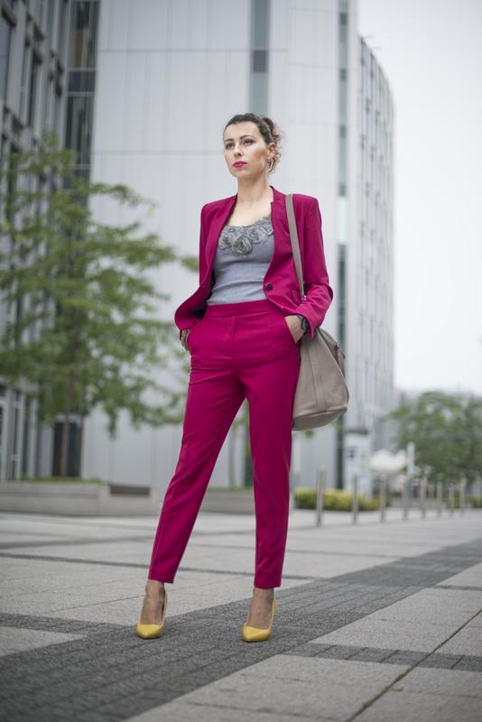różowy garnitur fashionblog