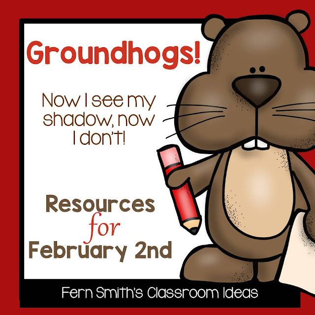 Fern Smith's Classroom Ideas Tips, Tricks, Resources and Freebies for Groundhog Day in the elementary classroom!