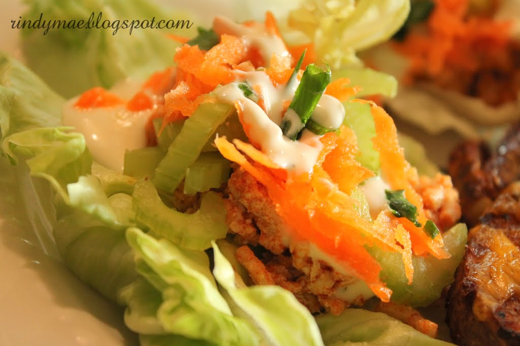 Rindy Mae: Buffalo-Style Turkey Lettuce Wraps & Chili-Seasoned Cheese ...