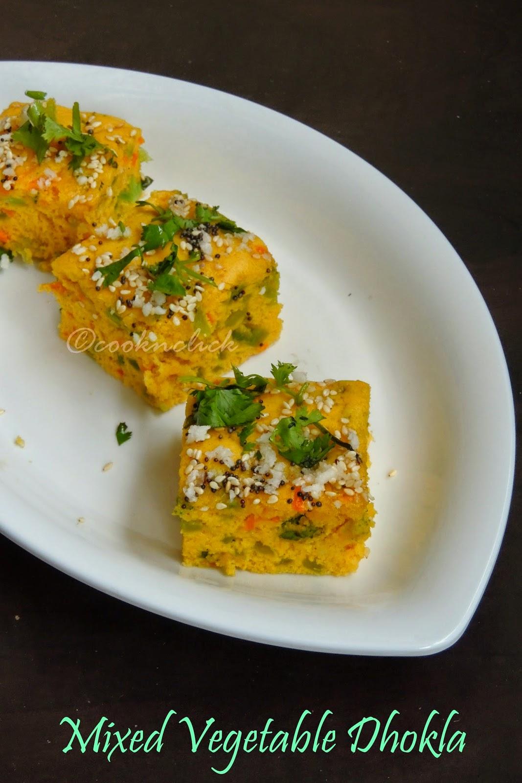 Colourful dhokla, Vegetable Khaman dhokla Mixed vegetable dhokla, variety vegetable dhokla