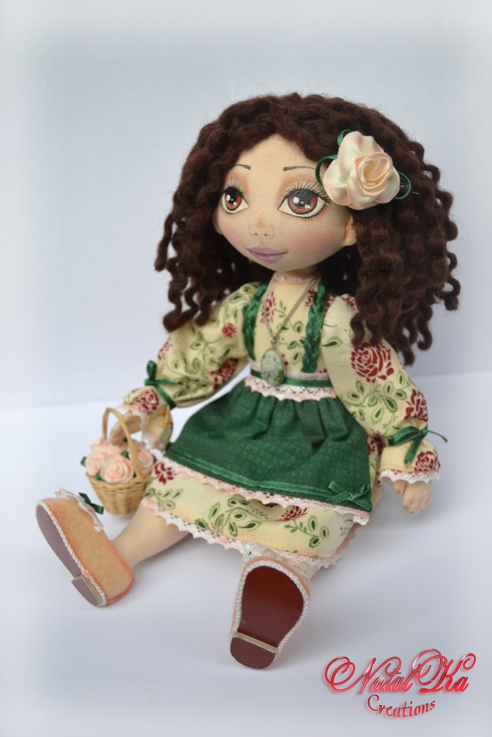 Rag art doll. Авторская текстильная кукла.