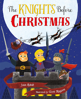 http://www.amazon.com/Knights-Before-Christmas-Joan-Holub/dp/0805099328/ref=sr_1_1?ie=UTF8&qid=1434229714&sr=8-1&keywords=knights+holub