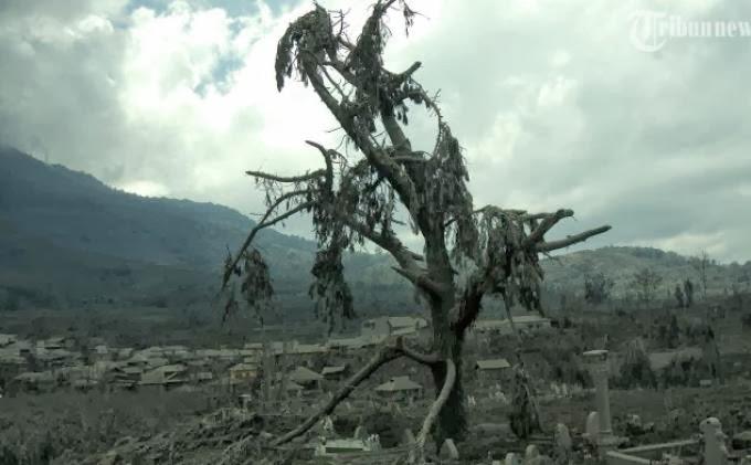 Penjagaan di Kaki Gunung Sinabung Diperketat