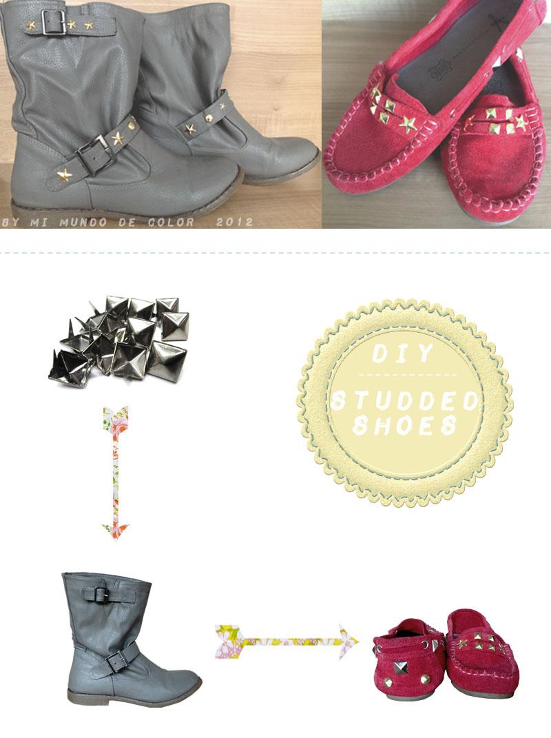 customiza tus viejos zapatos con tachuelas