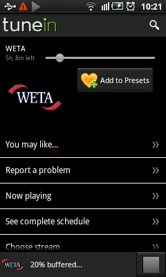 Android Radio - WETA station