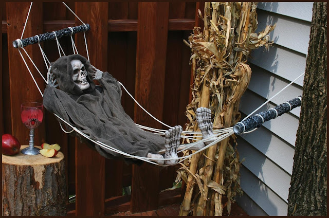 lazy bone skeleton halloween decoration