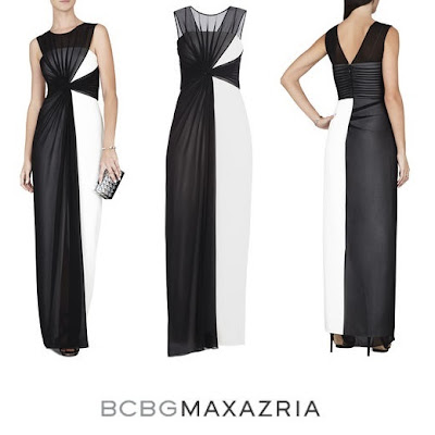 BCBG MAXAZRIA Ninah Asymmetric Colorblocked Gown Sofia Hellqvist