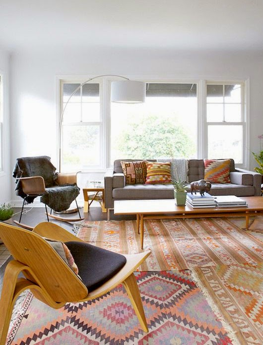 Tapete Patchwork Vintage : 12 Salas de estar com o tapete patchwork / vintage ~ Decora??o e