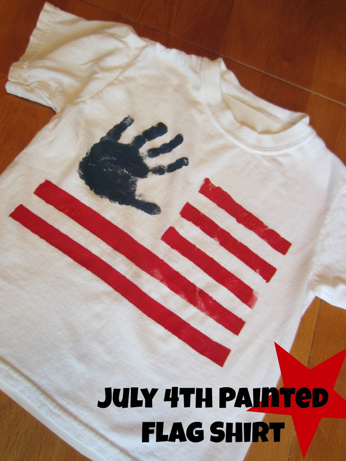 Relentlessly fun deceptively educational july 4th for How to paint on t shirt