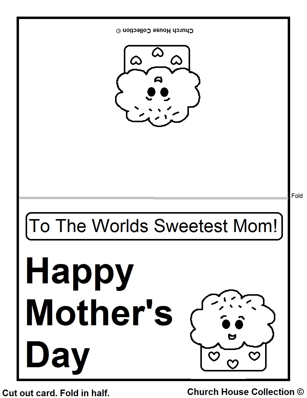 Ridiculous image with printable mothers day cards to colour in