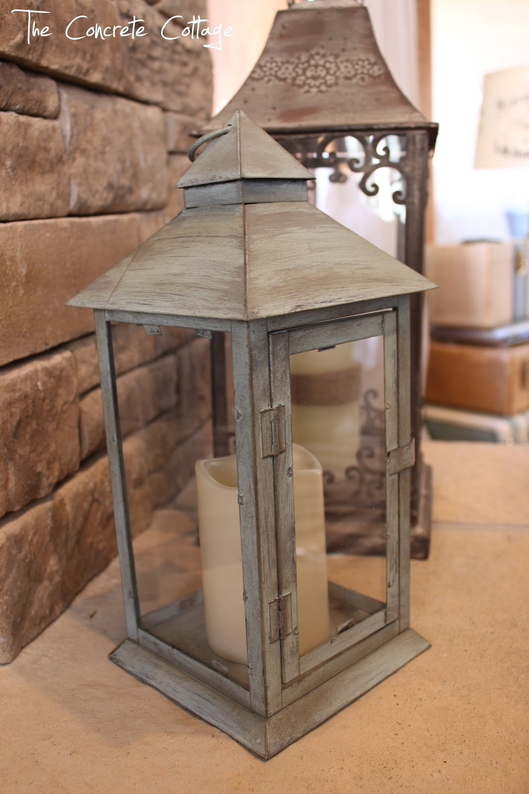 The concrete cottage metal lantern revamp with chalk paint wax the concrete cottage arubaitofo Choice Image