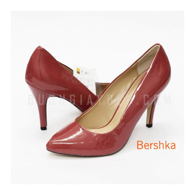Giày cao gót xuất khẩu Bershka XKBK-002-DO | Bán sỉ giày dép Hà Nội