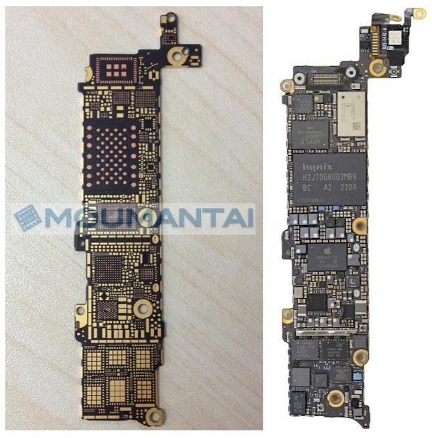 iphone 5s 5 logic board rear