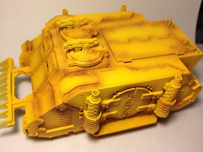 Pre-Heresy Imperial Fists Diemos Pattern Rhino
