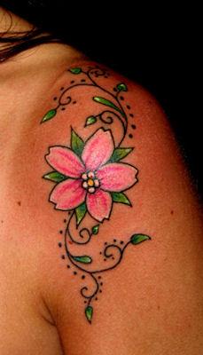 Il tatuaggio del botanico i fiori di ciliegio blossom for Disegni fiori per tatuaggi
