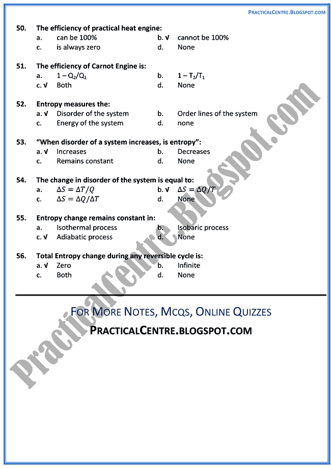 heat-mcqs-physics-12th