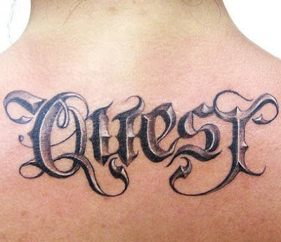 font script tattoo