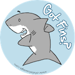 "Buy ""Got Fins?"" badges and more!"