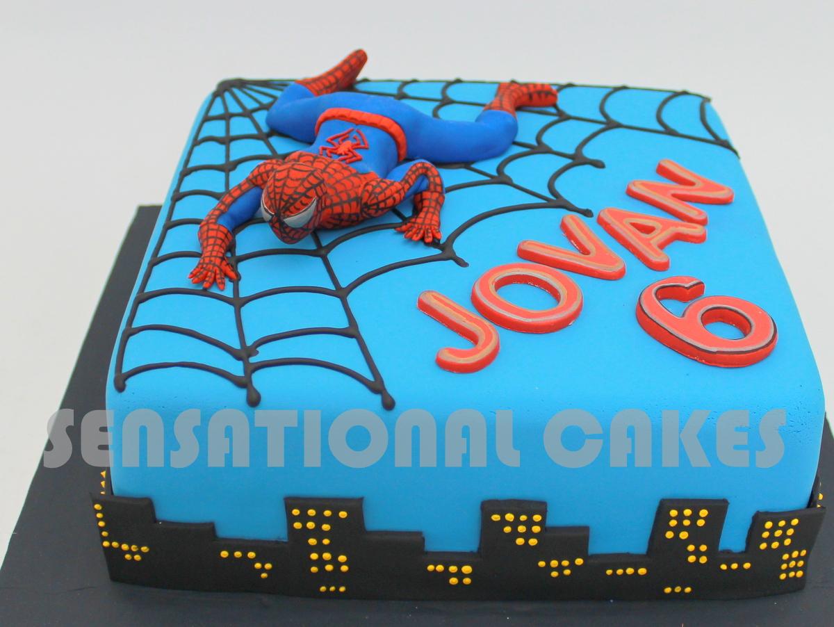 The Sensational Cakes Spider Man Theme Sugar Figurines Design Cake