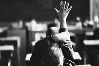 picture of a raised hand