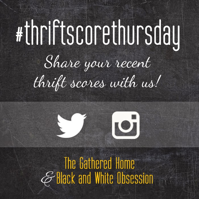 #thriftscorethursday Week 34 | Trisha from Black and White Obsession, Brynne's from The Gathered Home, and Guest Poster: Stephanie from Sandpaper and Glue