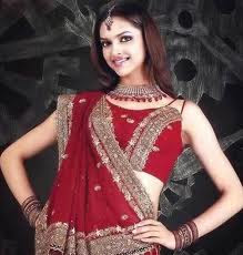 Deepika Indian Actress in Red sarees