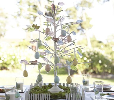Itsy belle diy easter tree centerpiece How to make an easter egg tree