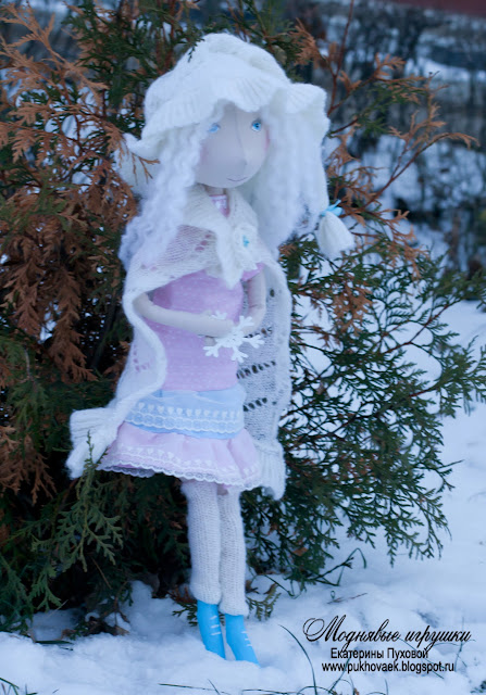 гномочка, кукла на проволочном каркасе