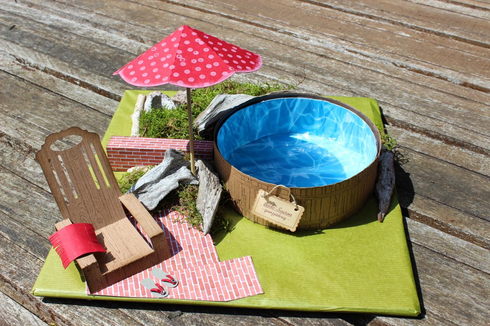 geldgeschenke basteln pool bouwunique. Black Bedroom Furniture Sets. Home Design Ideas