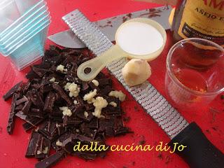 mousse di cioccolato allo zenzero
