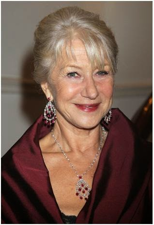 ruby earrings worn by Helen Mirren