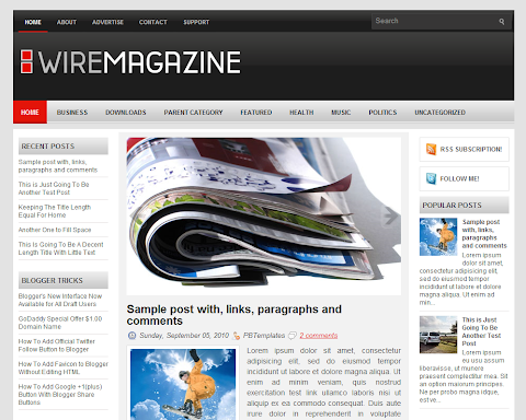 WireMagazine Blogger Theme